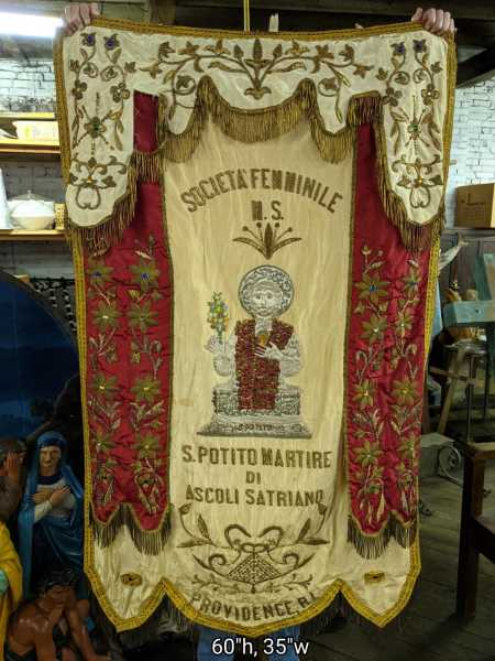 Saint-Potito-Providence-RI-Raised-Embroidery-Goldwork-Banner