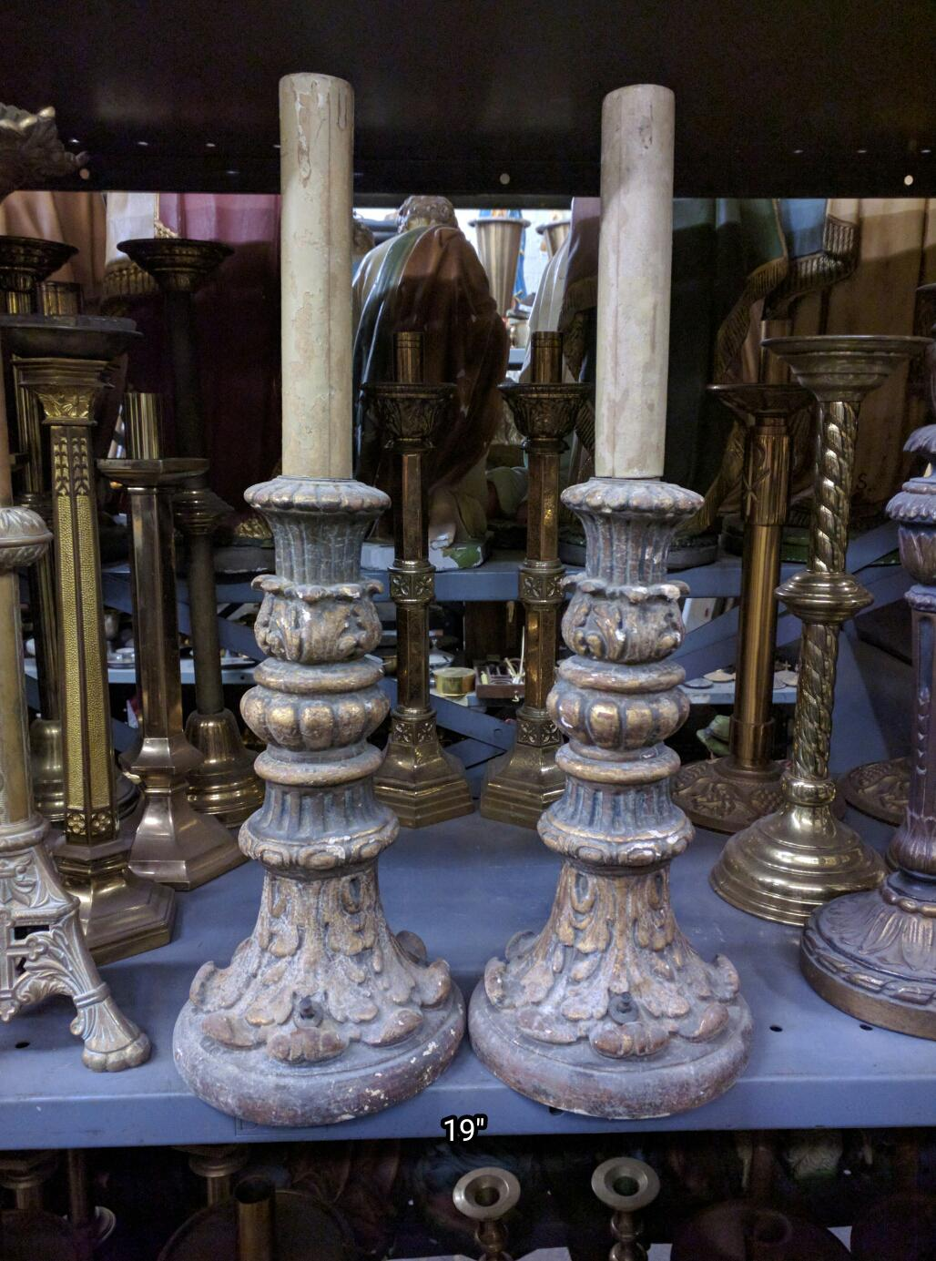 Candlesticks Used Church Items