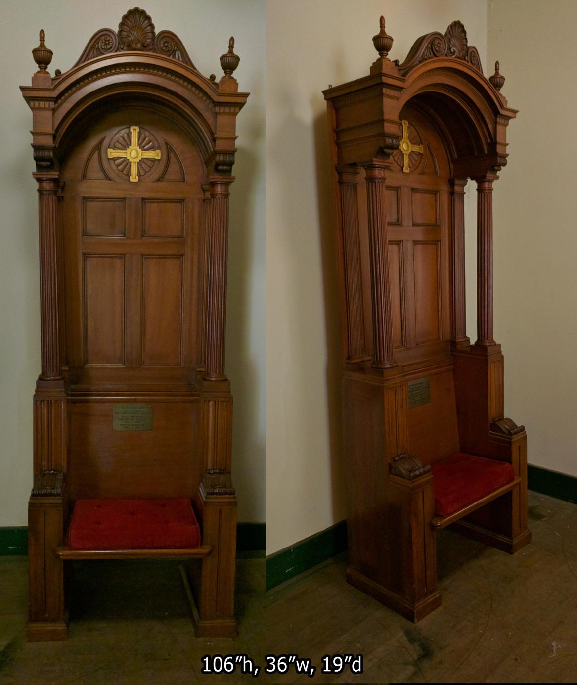 A-Beautiful-Antique-Church-Chair-1 - Chairs Sedilia Presider - Used Church Items