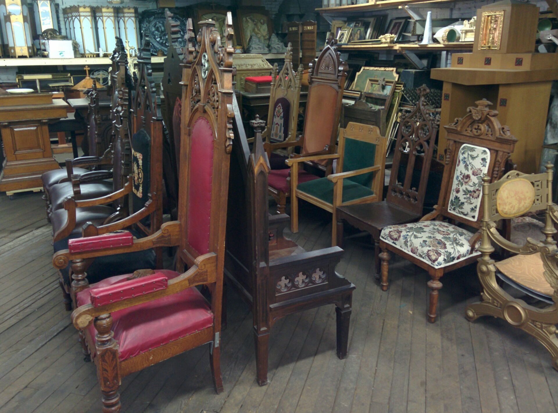 Chairs Sedilia Presider Used Church Items