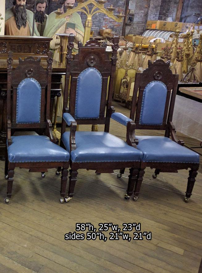 Church-Chairs-6 - Chairs Sedilia Presider - Used Church Items