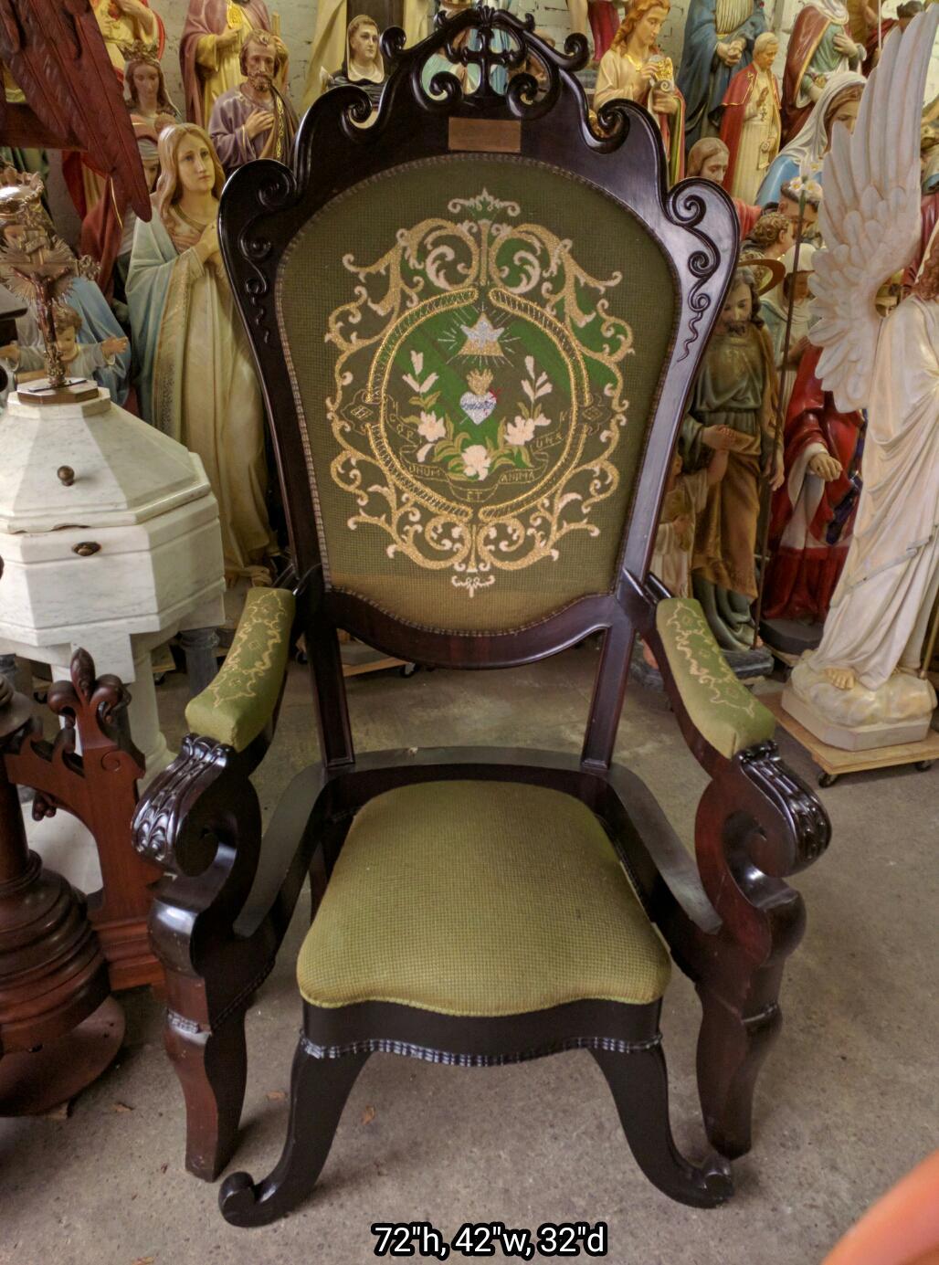 Large Bishop Priest Chair