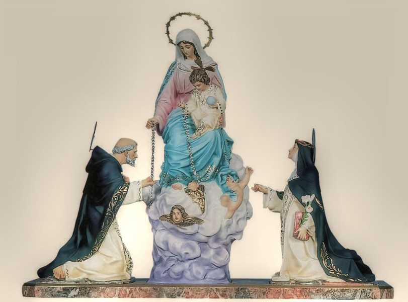 Virgin of the Rosary-Church-Statues
