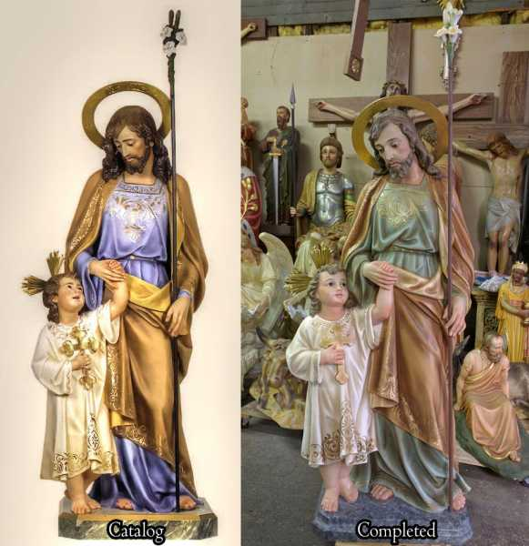 Custom Saint Statues - Used Church Items