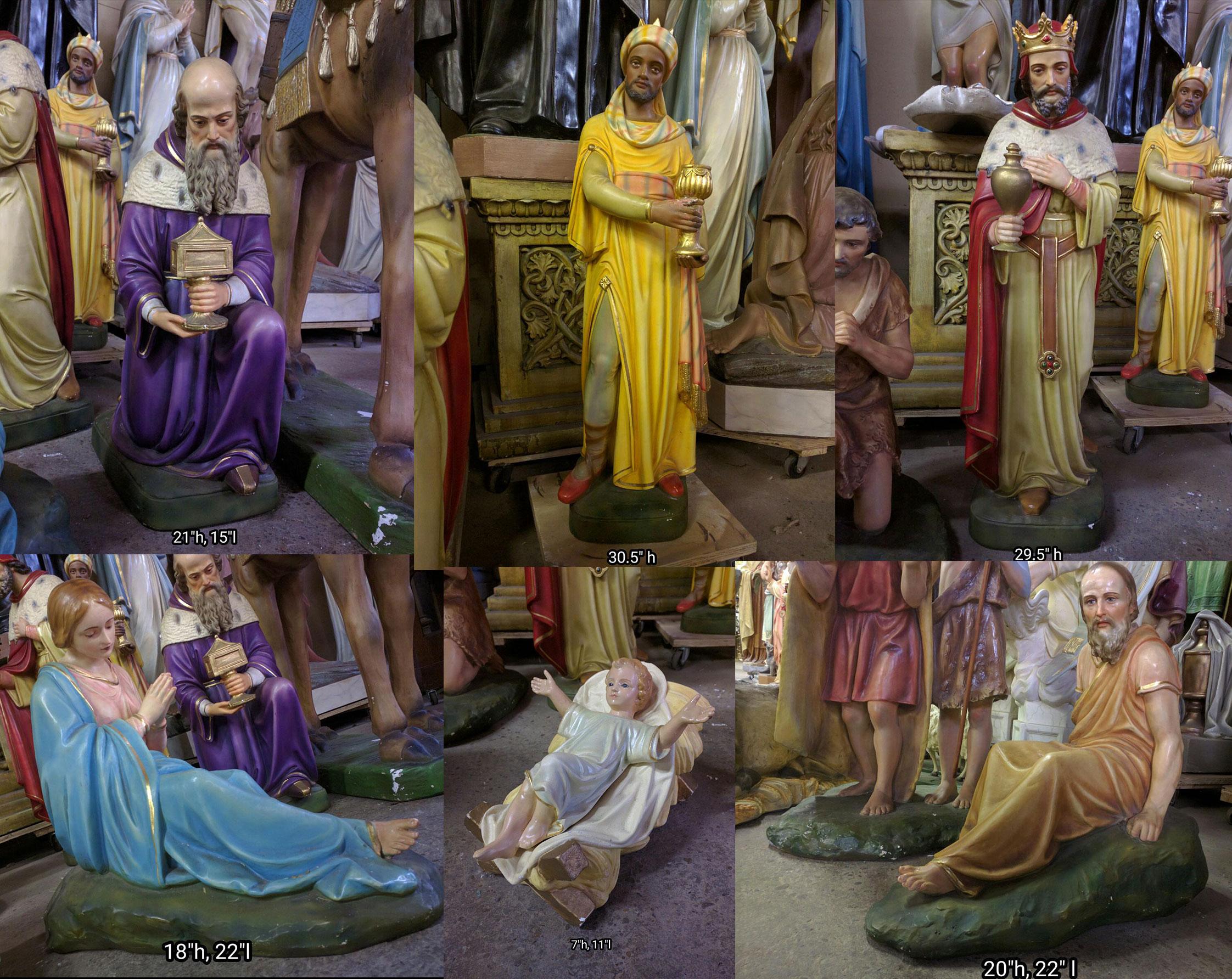 Rare Daprato Nativity Scene 1