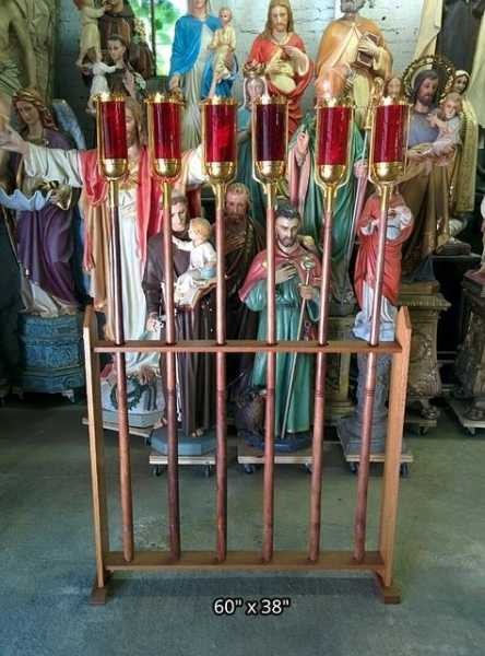 Catholic-Church-Vintage-Procession-sanctuary-with-stand
