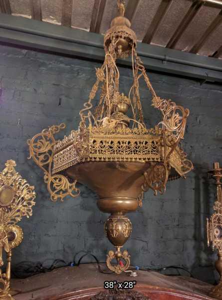 Amazing Antique Sanctuary Lamp 8