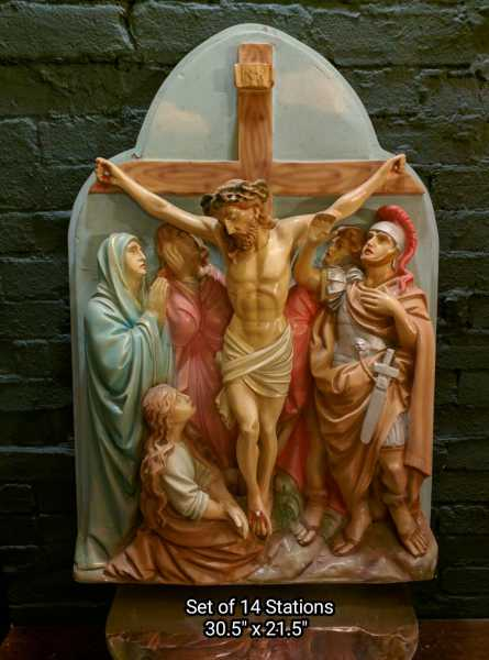 Stations Of The Cross Used Church Items