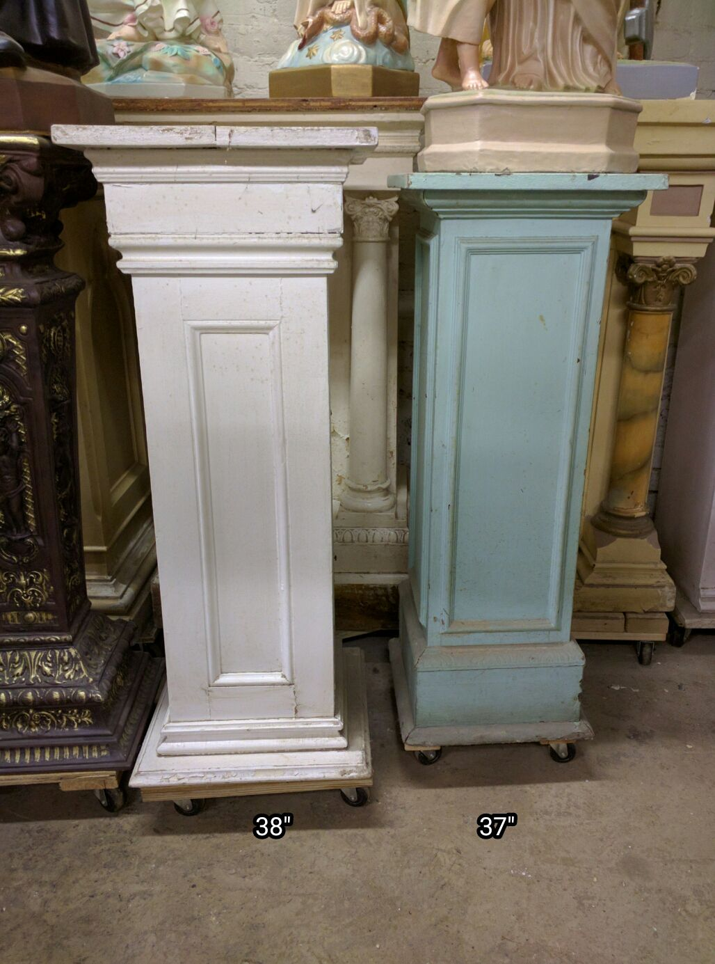 Statue Pedestals Used Church Items