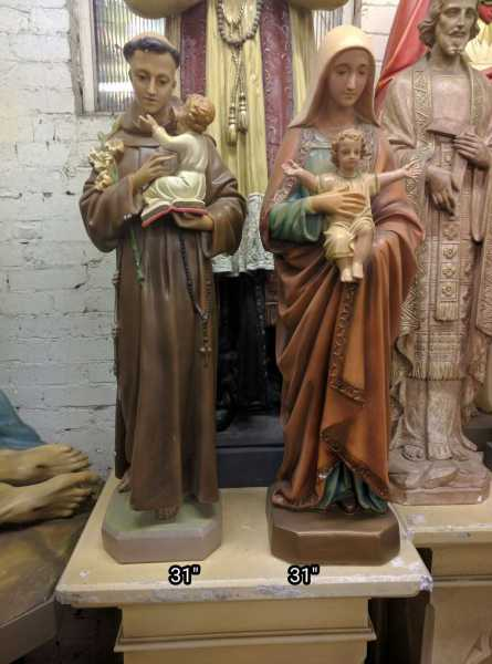 Saint-Anthony-and-Mary-With-Child-Catholic-Statue
