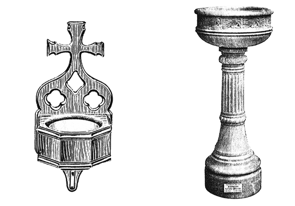 Holy Water Fonts Used Church Items